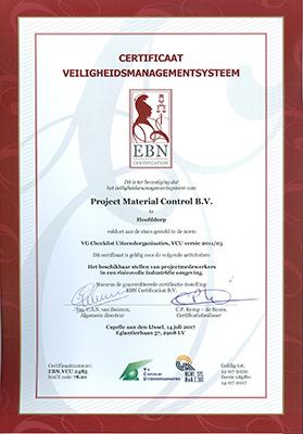 pdf certificaat VCU.2485